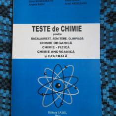 TESTE de CHIMIE BACALAUREAT, ADMITERE, OLIMPIADA -BOGDANESCU / ARDELEANU / ONICA