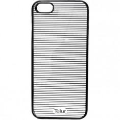 Husa de protectie Tellur Cover Hardcase Horizontal Stripes pentru iPhone 5/5S/SE Black