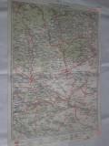 PLOIESTI-BUZAU1927- HARTA LITOGRAFIATA IN CONFORMITATE CU NOUA IMPARTIRE