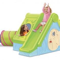 Spatiu joaca casuta tobogan si tunel Funtivity CURVER - Casuta copii