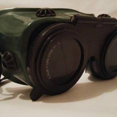 Ochelari vechi protectie sudor, aviator, steampunk, hipster, lentila verde,