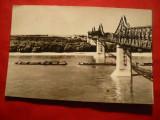 Ilustrata Cernavoda - Podul peste Dunare , circulat 1968, Circulata, Fotografie