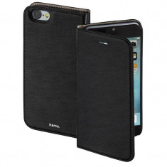 Husa Flip Cover Hama Slim Booklet Black pentru Apple iPhone 7 - Husa Telefon Hama, iPhone 7/8, Vinyl, Cu clapeta