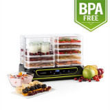 KLARSTEIN YOYOFRUIT, uscător de fructe și aparat de iaurt 2 în 1, 2 X 5 etaje, 550 W - Deshidrator