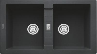 Chiuveta fragranite Franke Maris MRG 620 reversibila 860x500 tehnologie Sanitized Nero foto