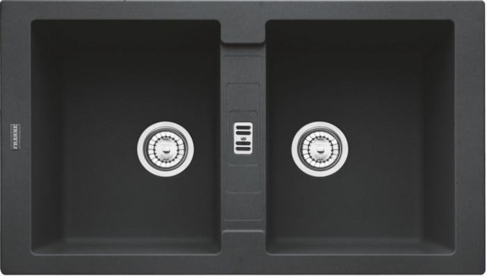 Chiuveta fragranite Franke Maris MRG 620 reversibila 860x500 tehnologie Sanitized Nero foto mare