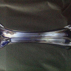 Eleganta vaza din sticla albastru metalic - Vaza sticla