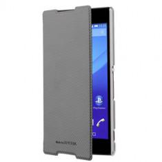 Husa Flip Cover Roxfit Ultra Slim Book Case Negru pentru Sony Xperia Z5 Compact - Husa Telefon Sony, Vinyl, Cu clapeta
