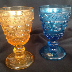 Pahare cristal colorat Art Deco