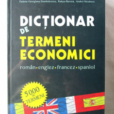 """DICTIONAR DE TERMENI ECONOMICI roman* englez* francez* spaniol"", R. Vasilescu, Alta editura"