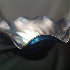 Fructiera albastra din sticla
