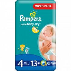 Scutece PAMPERS Active Baby 4 Small Pack 13 buc - Scutece unica folosinta copii
