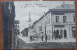 Radauti , Bucovina , str . Stefan cel Mare , circulata interbelic
