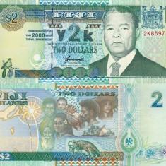FIJI 2 dollars 2000 COMEMORATIVA UNC!!!