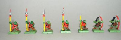 Lot figurine  miniaturi WARHAMMER ORCS AND GOBLINS ARMY (4) foto