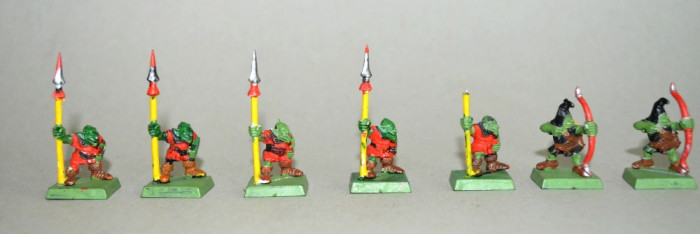 Lot figurine  miniaturi WARHAMMER ORCS AND GOBLINS ARMY (4)