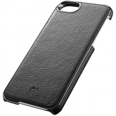 Husa Protectie Spate Cellularline LUXCIPH747K Lux Negru pentru Apple iPhone 7 - Husa Telefon