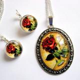 Set bijuterii floral 28915