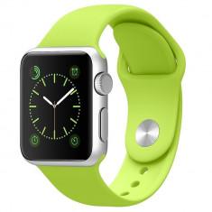 Apple Watch Sport 38mm Silver Aluminum Case Green Sport Band - Smartwatch