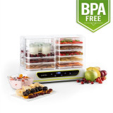 KLARSTEIN YOYOFRUIT, uscător de fructe și aparat de iaurt 2 în 1, 2 X 5 etaje, 550 W, alb - Deshidrator