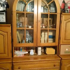 Mobila living stejar cu vitrina - Set mobila living
