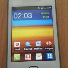 Samsung Galaxy Gio Alb - Telefon mobil Samsung Galaxy Gio, Neblocat