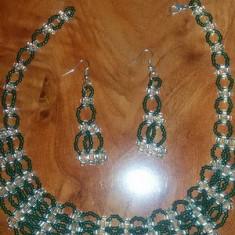 Colier si cercei handmade - Set bijuterii handmade si fashion