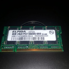 Memorie Laptop SODIMM DDR2 4GB Elpida PC2-6400S 800Mhz - Memorie RAM laptop