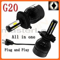 Set 2 becuri H7 LED - 40W 4000 lumeni/bec, CANBUS, 6000K - Led auto BOORIN, Universal