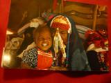 Ilustrata -Traditii- Femeie Beduin si Copilul -costum national , circulat, Circulata, Fotografie