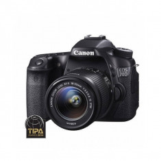 Aparat foto DSLR Canon EOS 70D 20.2 Mpx Kit EF-S 18-55mm IS STM, Kit (cu obiectiv), Peste 16 Mpx, Full HD
