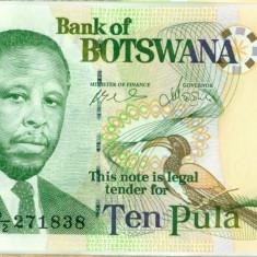 BOTSWANA 10 pula 2007 UNC - bancnota africa