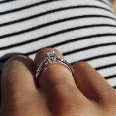 Inel de logodna diamant H Samuel, princess cut - Inel diamant, Carataj aur: 9K, Culoare: Alb