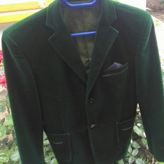 Sacou de Catifea, Marime: Marime universala, Culoare: Verde