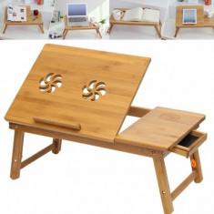 MASUTA LAPTOP bambus+ 2 ventilatoare COOLER - Masa Laptop