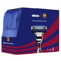 Rezerva aparat de ras Gillette Mach3 Turbo Barcelona 4buc+Aparat de ras+Gel de ras extra comfort 75ml+geanta
