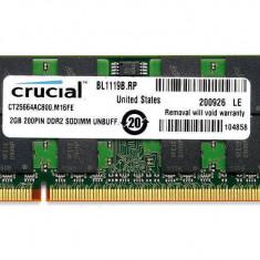 Memorie laptop Crucial 2GB DDR2 800MHz CL6 - Memorie RAM laptop