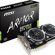 Placa video MSI NVIDIA GeForce GTX 1080 ARMOR 8G OC, PCI-Ex16, 8192MB GDDR5X, 256bit, 1797 MHz / 1657 MHz, DL-DVI-D*1, HDMI, 3*Display Port, bulk - Placa video PC Msi, PCI Express