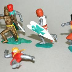 Lot figurine plastic miniaturi Cavaleri Timpo Toys