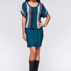 Rochie tricotata - Rochie tricotate, Culoare: Albastru, Marime: 46