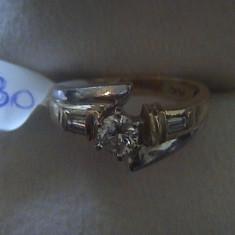 Vand inel de logodna cu diamante - Inel diamant, Carataj aur: 14k, Culoare: Galben