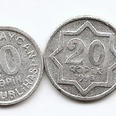 Azerbaijan Set 4 - 5, 10, 20, 50 Quapik 1992/93 - UNC !!!, Asia