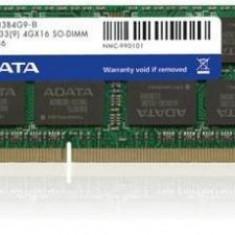 ADATA 4GB 1333MHz DDR3 CL9 SODIMM 1.5V - Retail - Memorie RAM laptop