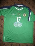 Tricou al Echipei Nationale al Irlandei de Nord ,Jucator nr.17 , masura XL,Umbro, Verde