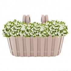 Jardiniera plastic tip gardulet cu agatatoare - Ghiveci