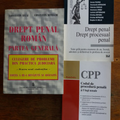 Lot 3 carti Drept penal si procedura penala / C66P - Carte Drept penal