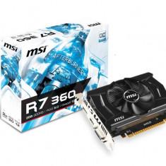 Placa video MSI AMD R7 360 2GD5 OCV1, PCI-E, 2048MB GDDR5, 128 bit, 1100MHz, 6000MHz, DVI, HDMI, DP, OC, FAN bulk - Placa video PC Msi, PCI Express, 2 GB, Ati