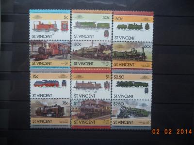 1985  St.Vincent Mi 832 - 843   Trenuri, locomotive**  Serie completa. foto
