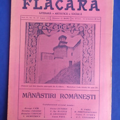 REVISTA FLACARA * ANUL IV - NR. 45 - 22 AUGUST 1915 * MANASTIRI ROMANESTI