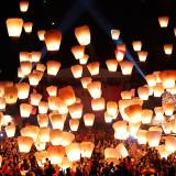 Lampioane zburatoare clasice multicolore - pachet 20 bucati